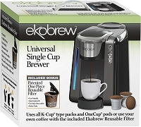 Ekobrew Universal K-Cup Brewer for Keurig 2.0 and 1.0 K-cups