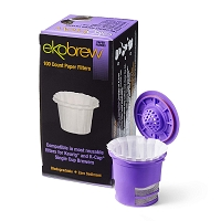 Ekobrew - Optional Coffee Paper Filters for Keurig Single Serve Filter