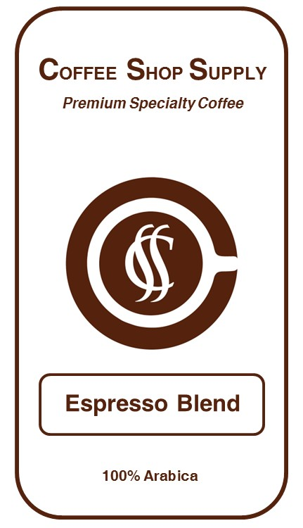 Coffee Shop Supply - Espresso Blend - 5 Pound Bag