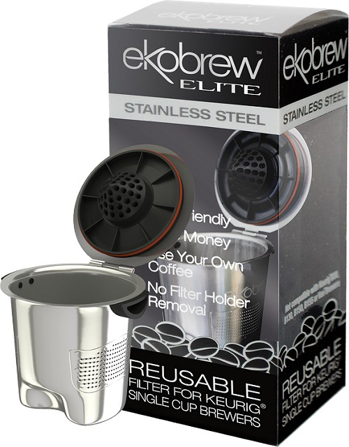 Ekobrew Elite Stainless Steel Reusable Filter for Keurig® 2.0 & 1.0 Single Cup Brewers